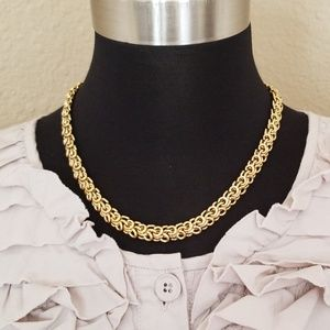 Gold Tone Ornate Necklace